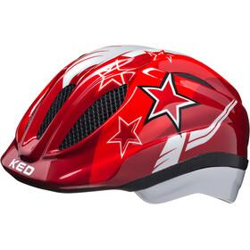 KED Meggy Helmet Kids red stars